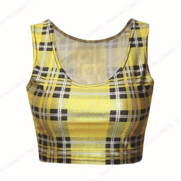 Running Vests Jogging Yellow Minion Bare Midriff Tank Top Sleeveless Femininos Bottoming Tops Camisole Funny 3D Minions  Women Crop Top KO_11_1