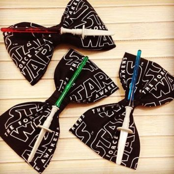 Star Wars Lightsaber Hair Bow or Bow Tie