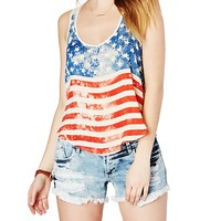 Americana Crochet Back Swing Tank