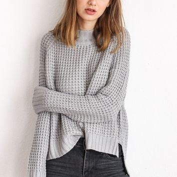 Grey Knit Sweater