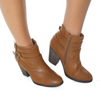 Stomp Your Feet- Chestnut Bootie