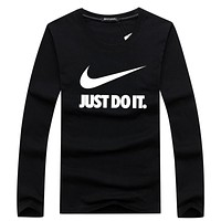 NIKE 2018 tide brand fashion sports knit long sleeve pullover sweater F-A000-PPNZ Black
