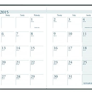 House of Doolittle 2015 - 2016 Academic Year Calendar Planner, Monthly, Burgundy Cover, 7 x 10 Inches (HOD26104-16)