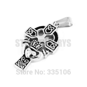 *Claddagh Style Hand to Hold a Heart with Crown Pendant