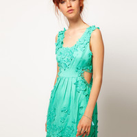 ASOS SALON Skater Dress with Cut Out Heart