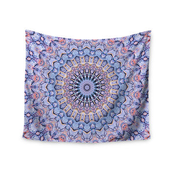 "Iris Lehnhardt ""Summer Lace II"" Circle Purple Wall Tapestry"