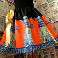 DALEK Skirt, Dr Who Clothes, Dr Who Skirt, Geekery, EXTeRMiNatE Skirt, ROOBYS,