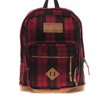 Jansport - Right Pack Digital Edition Student/Laptop Backpack Red Plaid iPlaid