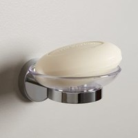 Caro Soap Dish Holder by Anthropologie Silver One Size Bath