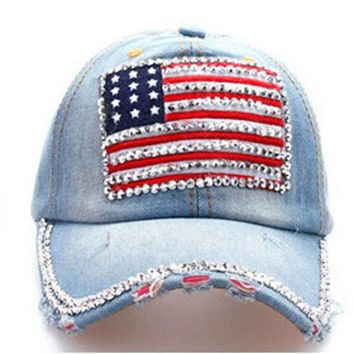 ONETOW National flag drill cowboy baseball cap