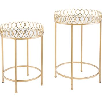 Gold Tray Tables (Set of 2)