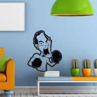 Wall Decals Boxing Caricature Man Decal Vinyl Sticker Home Decor Bedroom Interior Window Decals Living Room Art Murals Chu1328