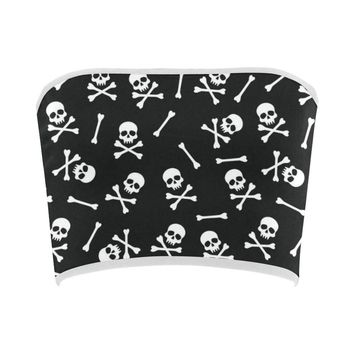 Skull Pattern Bandeau Top