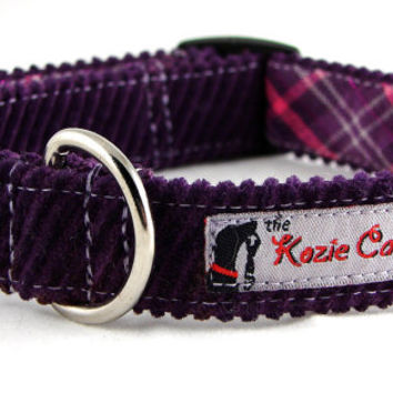 Premium Purple Corduroy Dog Collar with by theKozieCanine on Etsy