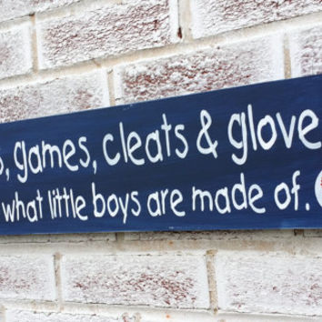 Gift ideas for kids & baby, Spring Celebrations, Baseball games cleats and gloves..., little boy's room, sports theme, nursery art, shower
