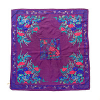 OROTON!!! Vintage 1970s 'Oroton' square silk scarf with oriental floral design / Made in Japan