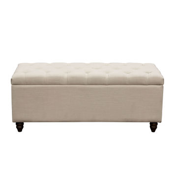 Park Ave Tufted Lift-Top Storage Trunk by Diamond Sofa - Grey