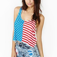 Kids In America Crop Tank