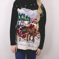 Vintage Knit Ugly Christmas Sweater