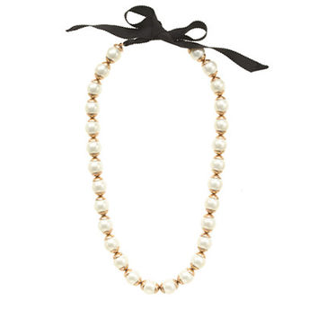 J.Crew Gilded Edge Pearl Necklace Item A2368 Sold Out (J. Crew)