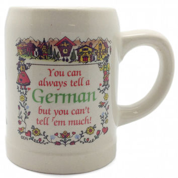 Beer Mug German Coffee Cup: Tell German