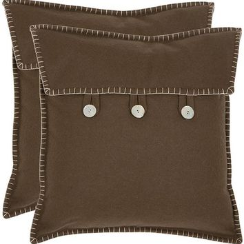 Button Pillow - Set of 2 - Decorative Pillows - Linens & Fabrics | HomeDecorators.com