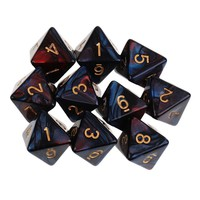 10PCS D8 Sided Dice 8 Sided Dices Set Polyhedral Dice For Dungeons and Dragons RPG Funny Games Outdoor Party Bar Poker Tool