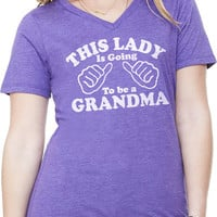 New Grandma This Girl is going to be a Grandma Womens T shirt V-Neck Tee Mother's Day Gift shower shirt Grandma to be Tee
