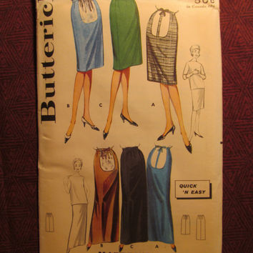 Uncut 1950's Butterick Sewing Pattern, 2615! Size 10 Maternity/Maternity Skirts/Long Skirts/Shorts Skirts/Straight Skirts/Expansion Waist