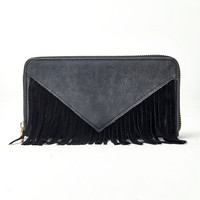 For Fringe Sake Wallet in Black