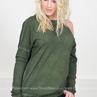 One Shoulder Forest Top