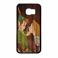 Wendy Kiss Peterpan Wood Samsung Galaxy S6 Case