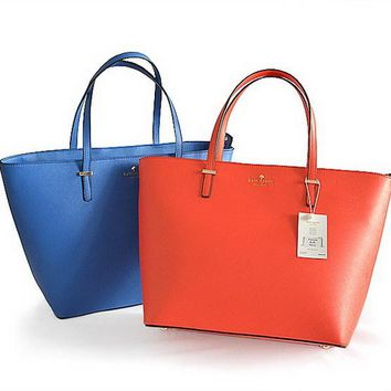 2018 Kate Spade New York Women Fashion Shopping PU Tote Handbag Shoulder Bag 2 Colors Red Blue
