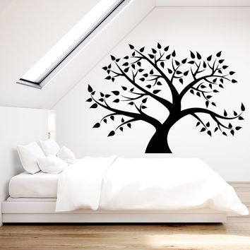 Vinyl Wall Decal Family Tree Forest Nature Leaves Stickers (2341ig)