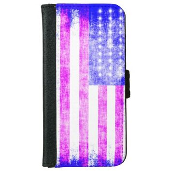 Flag U.S. Wallet Phone Case For iPhone 6/6s