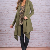 What I Want Cardigan, Olive