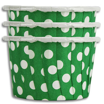 Green Polka Dot Nut Cups