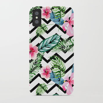 Watercolor Floral Pattern iPhone Case by Smyrna
