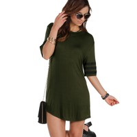 Olive Athletic Jersey Tunic