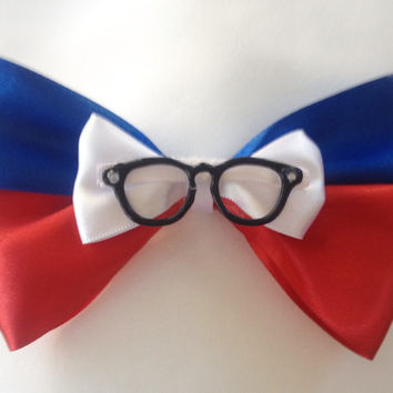 Lewis Robinson Young Inventor Blue and Red Bow, Keep Moving Forward by Design Bowtique