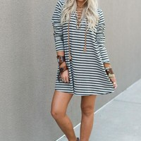 Take it Easy Laced Up Dress