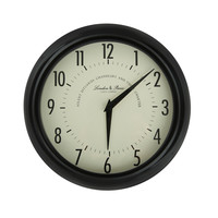 Black Iron Vintage-Inspired Round Wall Clock
