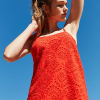 Kimchi Blue Strappy Eyelet Shift Dress | Urban Outfitters