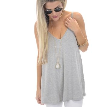 Bamboo Tank, Heather Grey