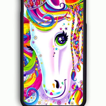 iPhone 6 Case - Hard (PC) Cover with Lisa Frank Majesty The Rainbow Horse Plastic Case Design