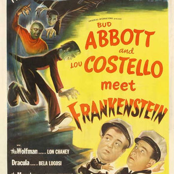Bud Abbott Lou Costello Meet Frankenstein 11x17 Movie Poster (1948)