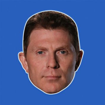 Bored Bobby Flay Mask - Perfect for Halloween, Costume Party Mask, Masquerades, Parties, Festivals, Concerts - Jumbo Size Waterproof Laminated Mask