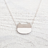 Cat Necklace, Gray, Many color variations