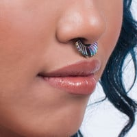 Rainbow Faux Septum