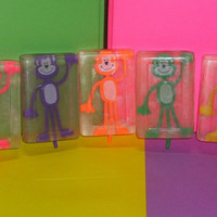 Monkey Soap 4 oz - Fun Kids Hand or Bath Soap, Your Choice Red, Green or Blue, Spa Party Favor, Women Children Christmas